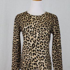 MAGDA BUTRYM Cheetah Print Wool Sweater